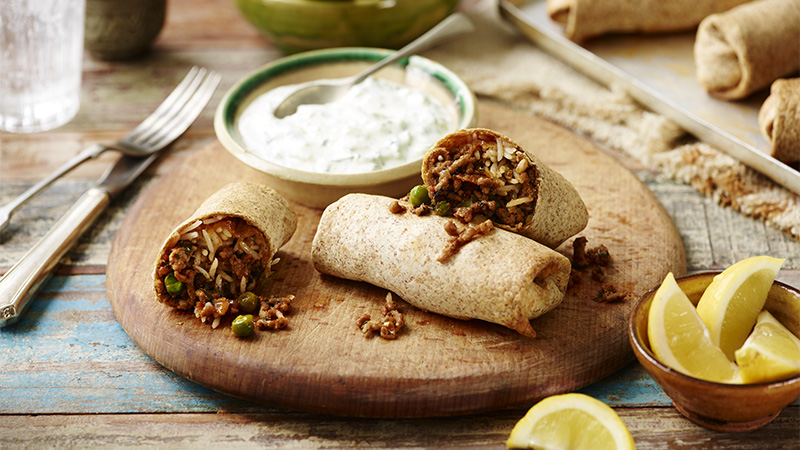 curried lamb chimichanga